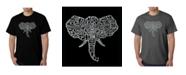 LA Pop Art Mens Word Art T-Shirt - Elephant Tusks