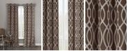 """Duck River Textile Harris 36"""" x 84"""" Trellis Print Blackout Curtain Set"""