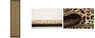"""Bridgeport Home Maasai Mss9 Light Brown 2' 7"""" x 10' Runner Area Rug"""