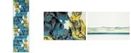 "Bridgeport Home Politan Pol9 Turquoise 2' x 6' 7"" Runner Area Rug"