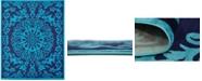 Bridgeport Home Politan Pol2 Turquoise 8' x 10' Area Rug
