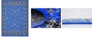 "Bridgeport Home Arnav Arn1 Blue 9' 10"" x 13' Area Rug"