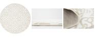 Bridgeport Home Marshall Mar5 Snow White 5' x 5' Round Area Rug