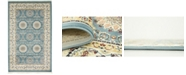 Bridgeport Home Zara Zar8 Blue 5' x 8' Area Rug