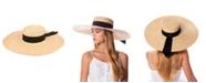 Epoch Hats Company Angela & William Natural Straw Wide Brim Floppy