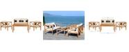 Safavieh Nunzio 4Pc Outdoor Seating Set with Pillows