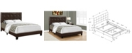Monarch Specialties Full Size Leather Look Bed