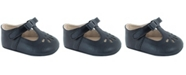 Baby Deer Baby Girl Soft Leather-Like T-Strap with Bow and Perforation