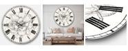 Designart Farmhouse Oversized Metal Wall Clock