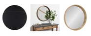 """Kate and Laurel Hutton Round Wood Wall Mirror - 30"""" x 30"""""""
