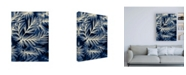 "Trademark Global Brooke T. Ryan Navy Blue Leaves Canvas Art - 27"" x 33.5"""