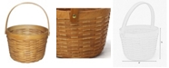 Vintiquewise Small Wood Chip Apple Picking Basket