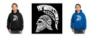 LA Pop Art Boy's Word Art Hoodies - Spartan
