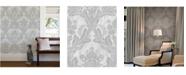 """Advantage 20.5"""" x 369"""" Zemi Damask Wallpaper"""