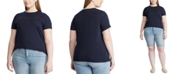 Lauren Ralph Lauren Plus Size Cotton Knit Top