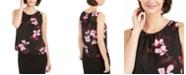 Nine West Floral Printed Ruched-Neck Top