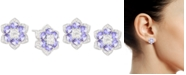 Macy's Tanzanite (1-7/8 ct. t.w.) & Diamond (1/2 ct.t.w.) Flower Stud Earrings in 14k White Gold