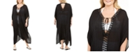 Raviya Plus Size Crochet-Trimmed Maxi Dress Cover-Up