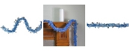 Northlight 12' Blue Christmas Tinsel Garland with Silver Holographic Snowflakes - Unlit