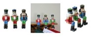 """Northlight Set of 3 Red Blue and Green Nutcracker Christmas Stocking Holders 7.5"""""""