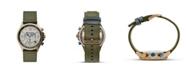 Columbia Men's Canyon Ridge Green Nylon Strap Chronograph Watch 42mm