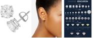 Macy's Certified Diamond Stud Earrings (1 ct. t.w.) in 14k White Gold