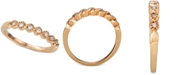 Macy's Diamond Beaded Twist Band (1/8 ct. t.w.) in 14k Rose Gold