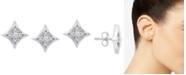 Macy's Diamond Star Stud Earrings (1/10 ct. t.w.) in Sterling Silver