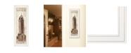 "Trendy Decor 4U New York Panel by Cloverfield Co, Ready to hang Framed Print, White Frame, 8"" x 23"""