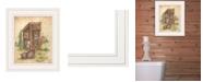 "Trendy Decor 4U Still Waiting by Mary Ann June, Ready to hang Framed Print, White Frame, 11"" x 13"""
