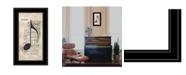 "Trendy Decor 4U Music by Marla Rae, Ready to hang Framed Print, Black Frame, 12"" x 21"""