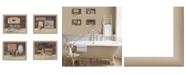 "Trendy Decor 4U Bathroom Collection II 4-Piece Vignette by Pam Britton, Taupe Frame, 56"" x 17"""