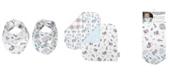 Trend Lab Bear Print Flannel Reversible Bib 2-Pack