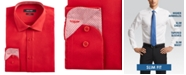 Nine West Men's Slim-Fit Wrinkle-Free Performance Stretch Samba Red Dress Shirt