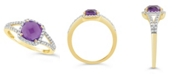 Macy's Amethyst (1-1/3 ct. t.w.) and Created White Sapphire (1/4 ct. t.w.) Ring in 10k Yellow Gold