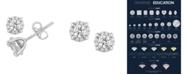 Macy's Certified Diamond 5/8 ct. t.w. Stud Earrings in 14k White Gold