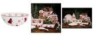 Euro Ceramica Winterfest Round Serving Bowl
