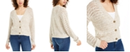 Hooked Up by IOT Juniors' Button-Front Cardigan