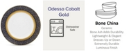 "Noritake Odessa Cobalt Gold Accent Plate, 9"""