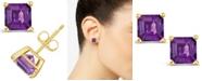 Macy's Amethyst (1-9/10 ct. t.w.) Stud Earrings in 14K Yellow Gold