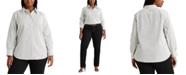 Lauren Ralph Lauren Plus-Size Non-Iron Button-Down Shirt