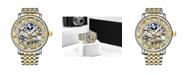 Stuhrling Men's Gold - Silver Tone Stainless Steel Bracelet Watch 49mm