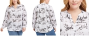 Charter Club Plus Size Toile-Print Tunic, Created for Macy's