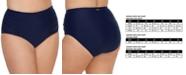 Raisins Curve Trendy Plus Size Costa High-Waist Tummy-Control Bikini Bottoms