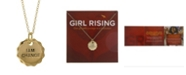 Girl Rising Sterling Silver Pendant Necklace - I am Change