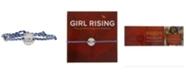 Girl Rising Sterling Silver and Blue Thread Bracelet - I am Change