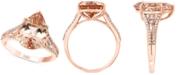 LALI Jewels Morganite (5 ct. t.w.) & Diamond (1/4 ct. t.w.) in 14k Rose Gold