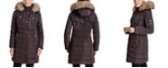 Michael Kors Faux-Fur-Trim Hooded Down Coat, Created for Macy's