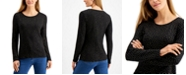 Charter Club Cotton Metallic-Dot T-Shirt, Created for Macy's