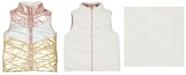 Epic Threads Big Girls Color Block Shiny Reversible Vest
